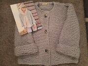 Hand Knitted Grey Chunky Knit Cardigan. Brand New. Vintage Style.