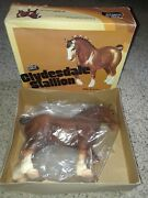 Breyer 80 Clydesdale Stallion 1979 In Original Plastic Cover And Box