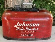 Vintage Johnson Mile Master Fuel Tank Outboard Motor 6 Gallon Metal Gas Can Boat