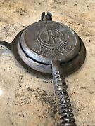 Griswold No 8 1908 Patent Cast Iron Waffle Iron
