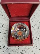 Crystal Glass Calgary Winter Olympics Paperweight From 1988