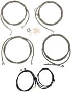 La Choppers Complete Cable Kit For 12-14 Ape Hangers W/abs Motorcycle