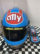2020 Jimmie Johnson Full Size Helmet And 1/24 Car 2x Autographed Throwback