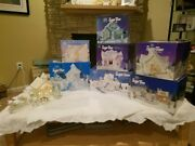 Precious Moments Sugar Town - Complete Set Plus Nativity, Clock, And Extras