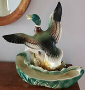 Vintage 1954-1956 Lane And Co Flying Mallard Duck Tv Lamp Planter Plus Extra Duck