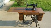 1916 Singer Treadle Sewing Machine. Model 66 With 7 Drawers. Very Ornate