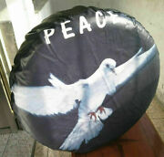 1pc Universal Spare Tire Cover 31-33 Leather 3d Peace Dove For Ford Jeep Toyota