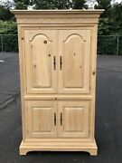 Tv Armoire Entertainment Cabinet Solid Wood 76x43x23 Furniture Piece Link-taylor