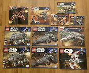 Lot Lego Star Wars Clone Turbo Tank X-wing Infiltrator Instruction Manual Only