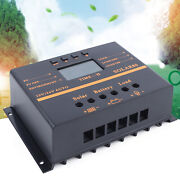 80a Solar Panel Charge Controller 12/24v Lcd Usb Charger Mppt Pwm Regulator