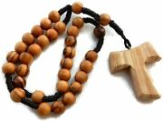Olivewood Anglican Rope Rosary Tao/tau St. Francis Cross Premium Genuine Hjw