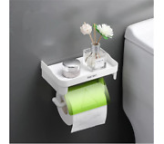Creative Paper Rolls Holder Toilet Multi-function Phone Stand Bathroom Accessory