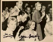 Frank Sinatra, Doris Day And Lauren Bacall Autographed Photo