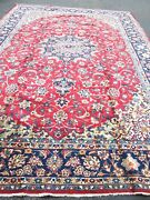 11and039x15and039 Vintage Esfahane Hand Knotted Oriental Rug.