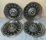 Set Of 4 1980-1987 Buick Century And Regal 14 Wire Spoke Hubcap Wheel Cover Oem