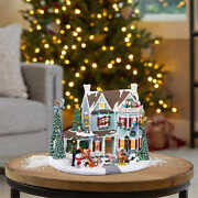 Disney Christmas Animated Holiday House W/ Lights And Music 120v Fast Shipping