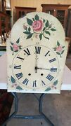 Antique German Tall Case / Grandfather Clock Dial And Movement For Restoration