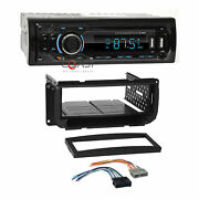 Concept Usb Mp3 Bluetooth Stereo Dash Kit Harness For 1998+ Chrysler Dodge Jeep