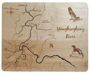 Youghiogheny River Pennsylvania - Laser Cut Wood Map
