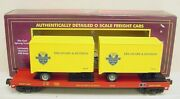 Mth 20-98108 Delaware And Hudson Flatcar With 20' Trailers Ln/box