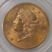 1904 Liberty 20 Pcgs Ogh Old Green Label Holder Certified Ms63 Flashy Us Gold