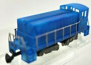 Z Scale Blue Diesel Switcher Loco Painted/unlettered W/marklin Cplrtested Nib