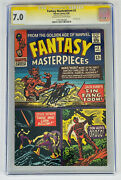 Fantasy Masterpieces 2 Cgc 7.0 Signed Stan Lee Single Highest Graded Jack Kirby