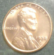 1938 S Wheat Penny Bu Full Red Brilliant Uncirculated Ultra Low 15 Mill San Fran