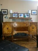 Antique Bernhardt Buffet/sideboard, Pre-1950's, Oak, Two Drawers And Two Cabinet