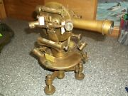 Vintage Brass Transit Survey Tool Lots Levels And Has A Name As Shown