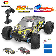 Deerc 4wd Rc Car 60km/h High Speed Monster Truck Off Road Brushless Motor Toys