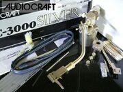 Audio Craft Ac -3000 Silver Tone Arm Genuine Shell/pipe 2 Full Set Audio Station