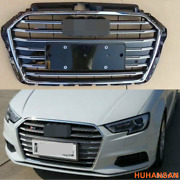 For Audi A3 8v S3 Style Sport Grill Hex Mesh Front Upper Hood Grille 2017-2019