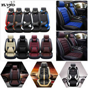 Deluxe Car Seat Covers For Car Pu Leather 5-sits Sedan Auto Cushion Set W/pillow