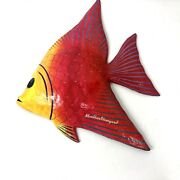 """Hand Painted Fish,paper Mache Wall Hangings Décor Signed """"marthasvineyard """""""