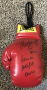 Evander Holyfield And Buster Douglas Signed Autograph Large Everlast Boxing Glove
