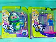 Polly Pocket Min With Poly Stick And Polly Pogo-a-gogo Polly Lot Of 2