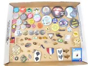 Vintage Lot Of Pins Buttons Pin Backs Pendants