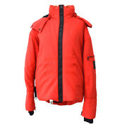 03a 40 Cc Sports Line Zip-up Long Sleeve Coat Jacket Red Auth Y04117j