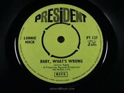 Lonnie Mack Baby What's Wrong [jimmy Reed] Nr Mint 1967 Uk President Pt 12