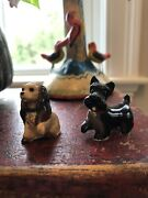 Vtg. 1981 Hagen Renaker Disney Miniature Lady And The Tramp Figurines Lady And Jock