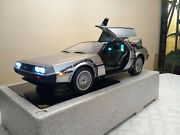 Hot Toys Mms260 16 Delorean Time Machine W/lightning Rod And License Plate