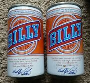 2 Billy Carter Beer Forced Steel 12oz Cans Falls City Brewing Co Louisville Ky