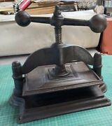 Book Press Also Known As Stock Or Copy Press Cast Iron 10 X 13 Press Bed