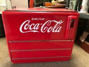 Coca Cola Water Cooled Chest Beautifully Repainted Working 41 X 25 X 48.