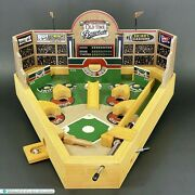 Classic Old-time Baseball Wooden Tabletop Pinball Style Game - Original Box