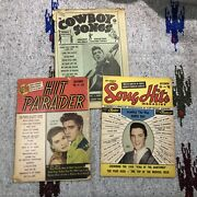 Vintage Elvis Presley Music Sheets Lot Of 3 Various Collectibles K11