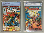 80andrsquos Cartoon Slabs🔥masters Of The Universe And G.i.joe 1andrsquos🔥1982 Cbcs 9.8 And 9.4