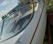Port Side Curved Glass Windshield Panel Only Off 2001 Glastron Sx175 Br