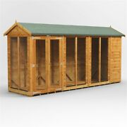 14ft X 4ft Apex Summerhouse - Fully Tongue And Groove - Double Door - 14x4